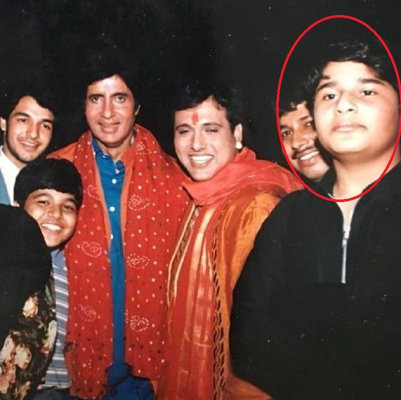 An Old Picture of Krushna Abhishek With Amitabh Bachchan and Govinda
