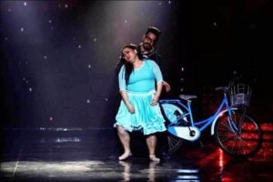 Bharti Singh and Haarsh Limbachiya in 'Nach Baliye Season 8'