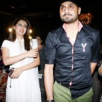Harbhajan Singh with his wife Geeta Basra