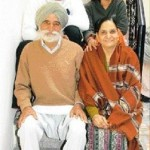 Harbhajan Singh with his family