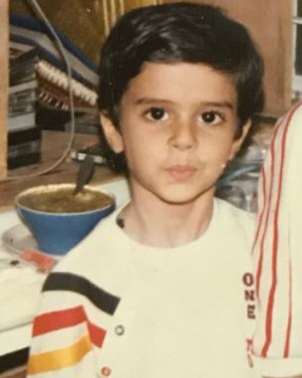 Manish Paul in his childhood days
