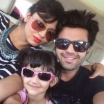 Manish Paul with his wife and daughter
