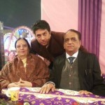 Manish Paul's parents and brother