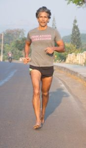 Milind Soman barefoot running