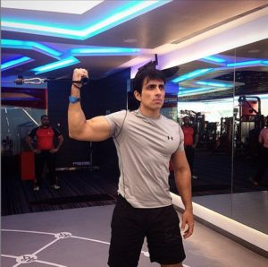 Sonu Sood inside the gym