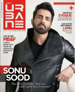Sonu Sood on the cover of the Just Urbane Magazine