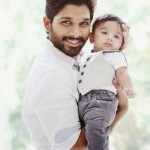 Allu Arjun with his son