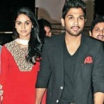 Allu Arjun with his wife
