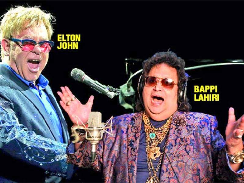 Bappi Lahiri and Elton John