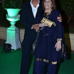 Chunky Pandey with his mother