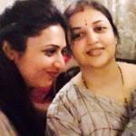 Divyanka Tripathi with her sister