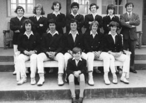 Imran Khan (Sitting 2nd from Left) With His Royal Grammar School of Worcester Team-mates