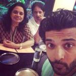 Karan Kundra with his parents