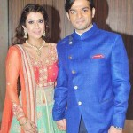 Karan Patel with his wife