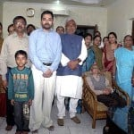 Nitish Kumar with his family