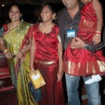 Prakash Raj with his Ex-wife and daughters