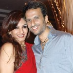 Raveena Tandon with her husband