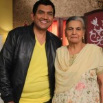 Sanjeev Kapoor with his mother