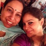 Sumona Chakravarti with her mother