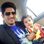 Vijender Singh with his son