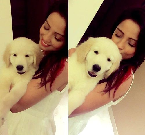 Adaa Khan loves dogs