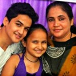 Faisal Khan with his family