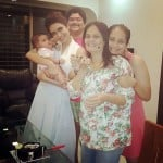 Karishma Tanna with her mother, sister, and brother-in-law