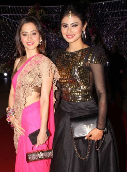Mouni Roy With Sanjeeda Sheikh