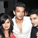 Mukti Mohan with Ankit Dwivedi and actor Karan Kundra