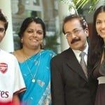 Parvathy Omanakuttan with her family
