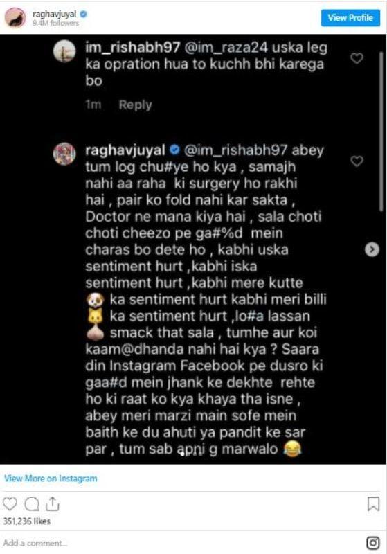 Raghav Juyal's Instagram post