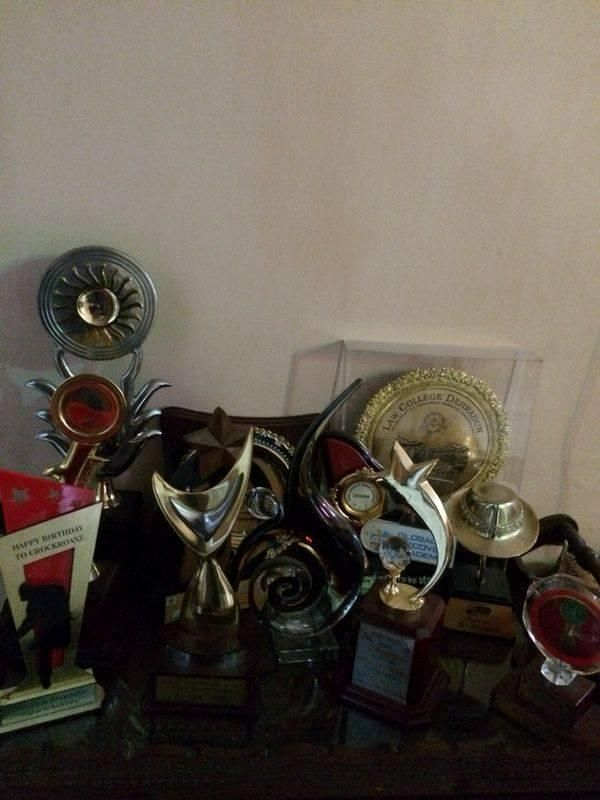Raghav Juyal's trophies he won at dance competions