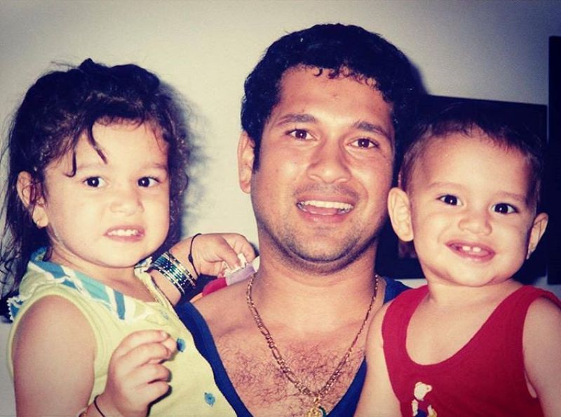 Sachin Tendulkar With Arjun And Sara
