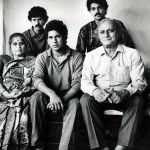 Ajit Tendulkar with his family