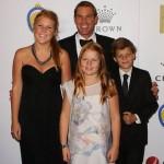 Shane Warne with his children
