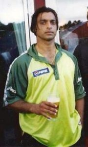 Shoaib Akhtar With A Glass of Beer in His Hand