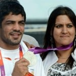 Sushil Kumar with his wife