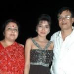 Tina Dutta with her parents