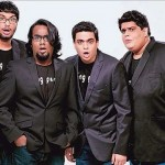 AIB's 4 stand-up comedians (from left) Gursimran Khamba, Ashish Shakya, Rohan Joshi and Tanmay Bhat