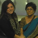 Delnaaz Irani with her mother