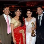 Genelia D'Souza With Her Parents And Brother