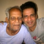 Manoj Bajpai with his father
