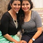 Nimrat Kaur with her sister