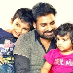 Pawan Kalyan  with his children