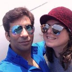 Percy with his girlfriend Delnaaz Irani