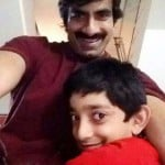 Ravi Teja with his son