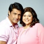 Salil Ankola with his wife Ria