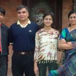 Sriti Jha with her family