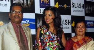 Mugdha Godse with her parents