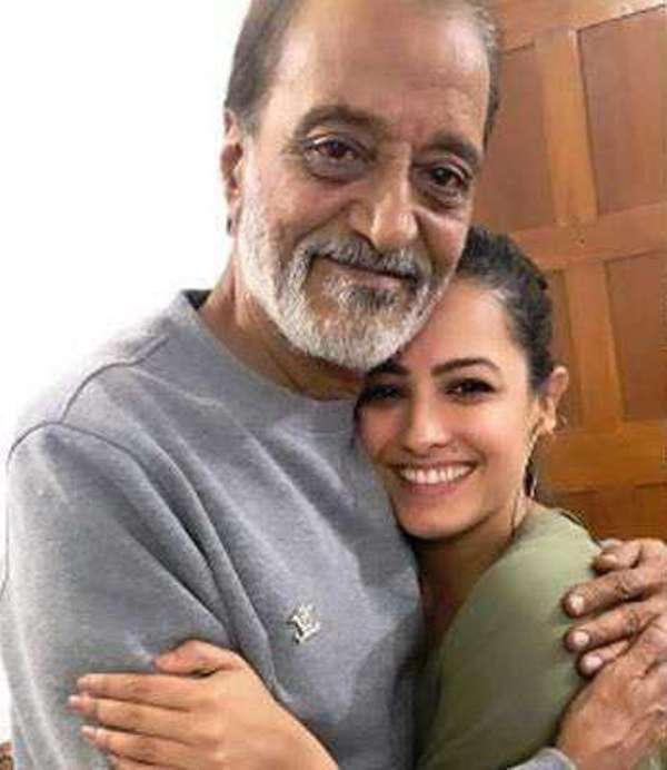 Anita Hassanandani with her father-in-law